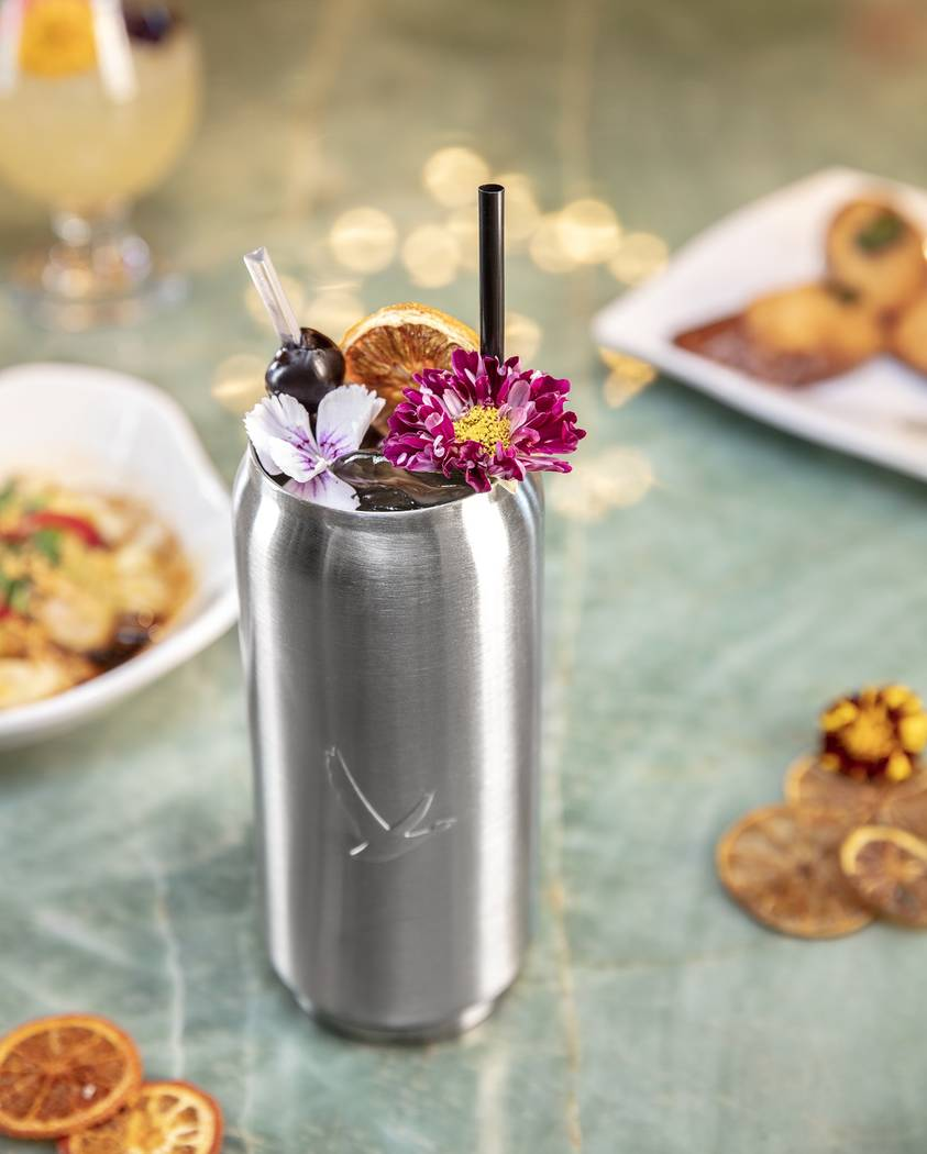 Tim Ho Wan's Sakura cocktail is made with Grey Goose Cherry Noir, Orgeat, lemon juice and che ...