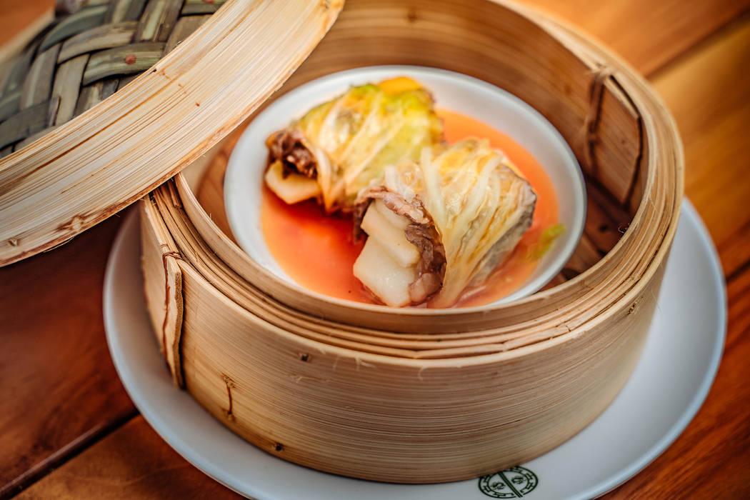 Steamed wagyu beef bundle with apple and mushroom at Tim Ho Wan. (Tim Ho Wan)