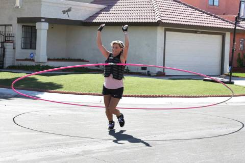 "Getti Kehayova, 42, who recently broke the Guinness World Record for the ""largest hula hoop s ..."