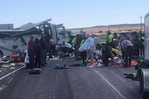 Four people were killed and dozens were injured in a tour bus crash near Bryce Canyon National ...