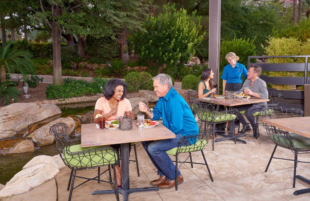 Outdoor dining area at Market Place Buffet (JW Marriott Las Vegas)