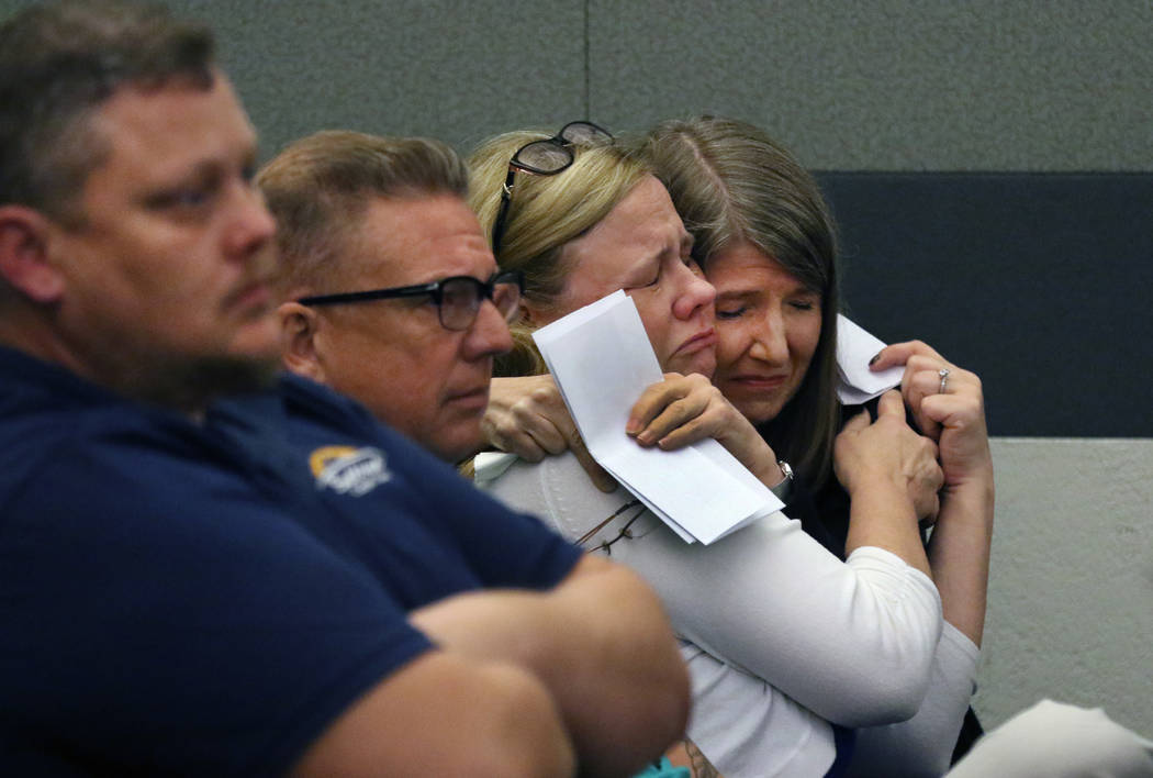 Stacy Sabraw, right, and her sister Katherine Bockhorst, granddaughters of murder victim 86-yea ...