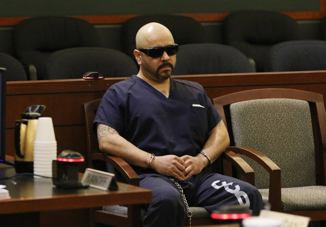 Gustavo Ramos-Martinez, convicted of killing two elderly people in 1998, appears in court durin ...