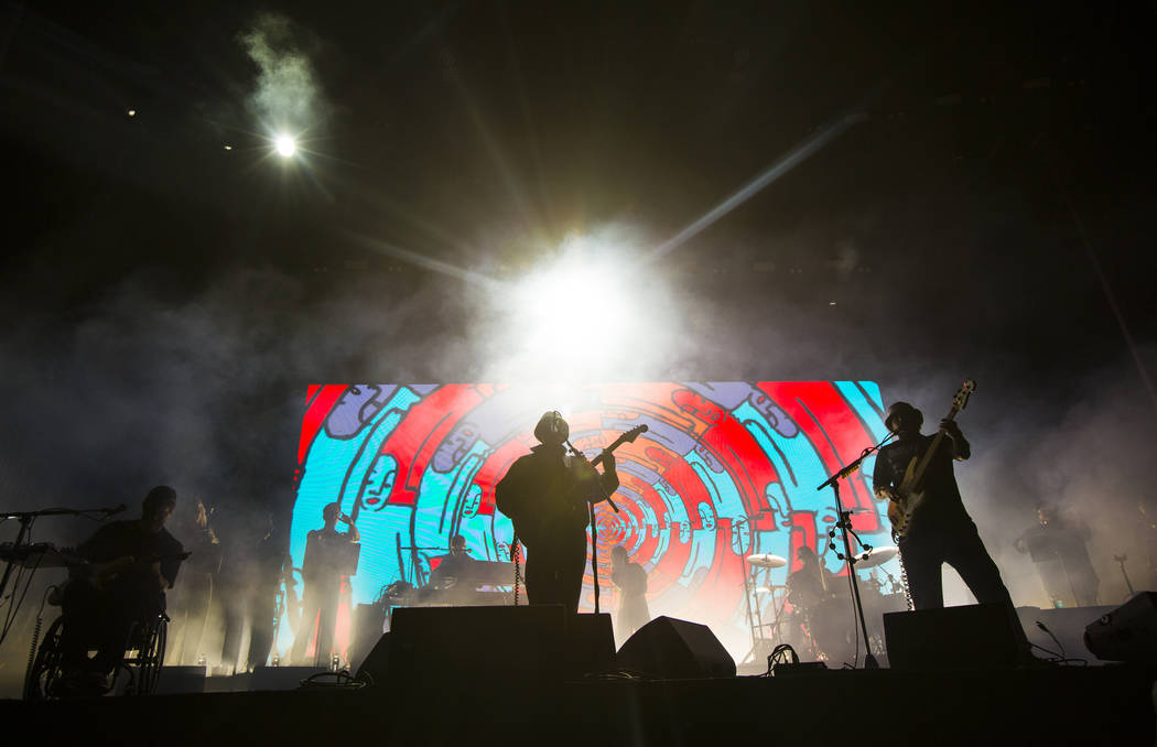 Portugal. The Man performs at the Bacardi stage during the first day of the Life is Beautiful f ...
