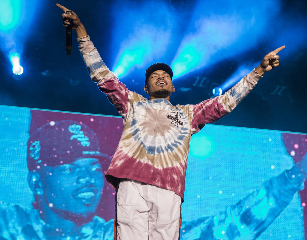 Chance the Rapper performs at the Downtown Stage during the first day of Life is Beautiful fest ...