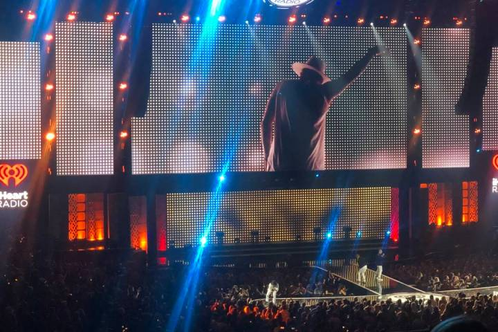 The Backstreet Boys perform at iHeartRadio Music Festival on Friday, Sept. 20, 2019. (John Kats ...