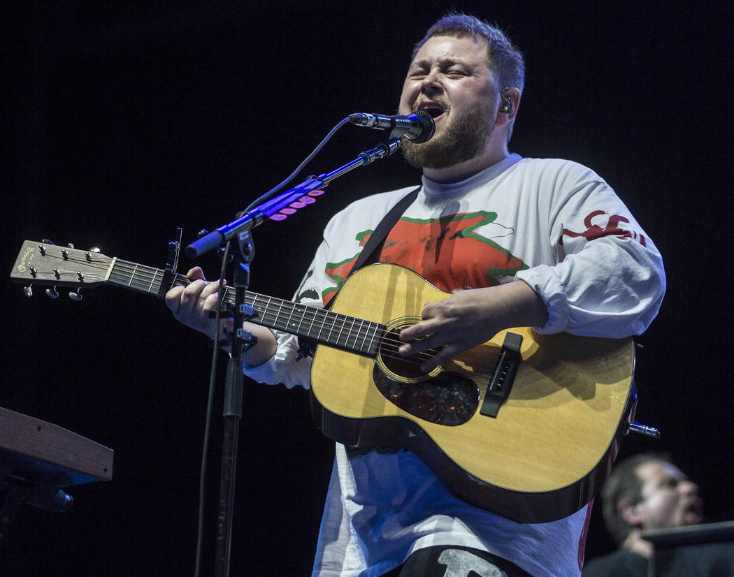 Of Monsters and Men perform on the Downtown Stage during the second day of Life is Beautiful on ...