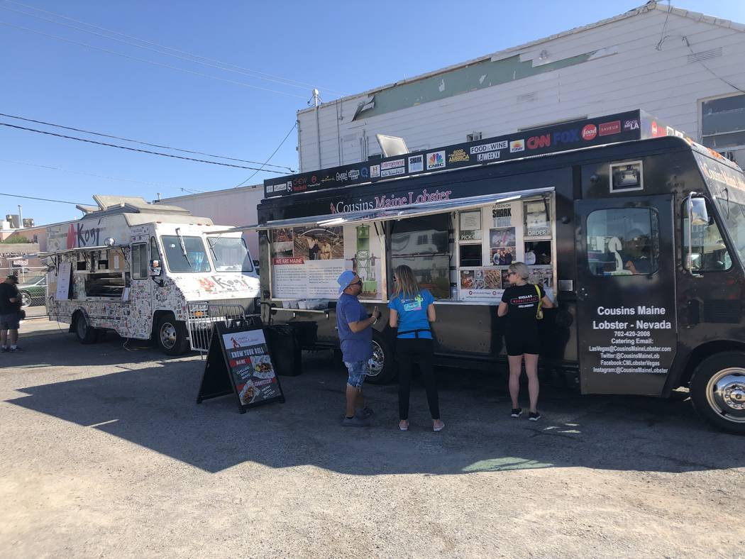 There are food trucks scattered throughout the Life is Beautiful festival. (Al Mancini/Las Vega ...