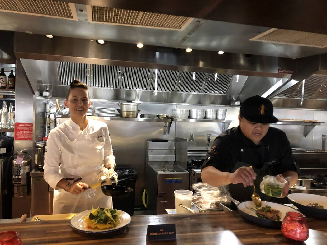 Chefs Jennifer Murphy and Roy Ellamar were featured in the Omakase Cantina on the first night o ...