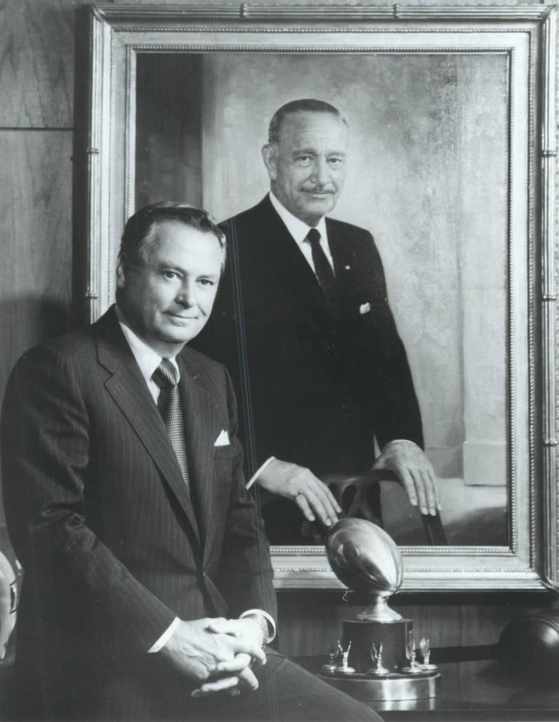 This 1989 file photo shows Barron Hilton, Chairman and President Hilton Hotels Corporation. (Fi ...
