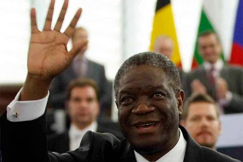 FILE - In this Wednesday Nov. 26, 2014 file photo, Doctor Denis Mukwege, from the Democratic Re ...