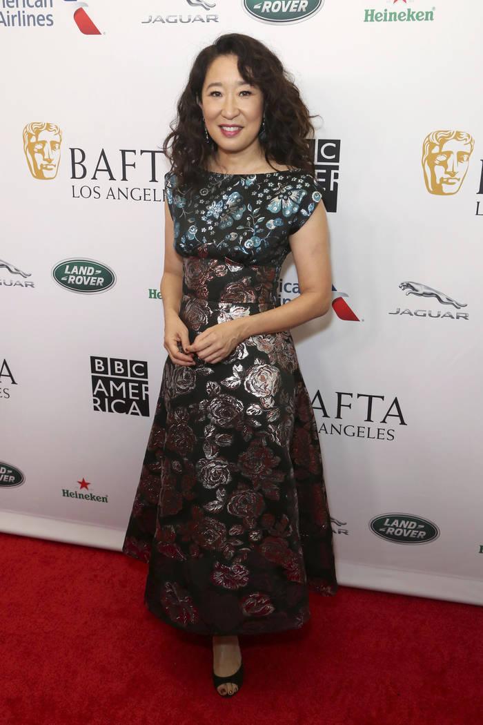 Sandra Oh arrives at the 2019 Primetime Emmy Awards - BAFTA Los Angeles TV Tea Party at the Bev ...