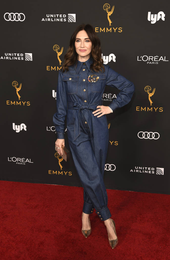 Actress Carice van Houten poses at the Performers Nominee Reception for Sunday's 71st Primetime ...