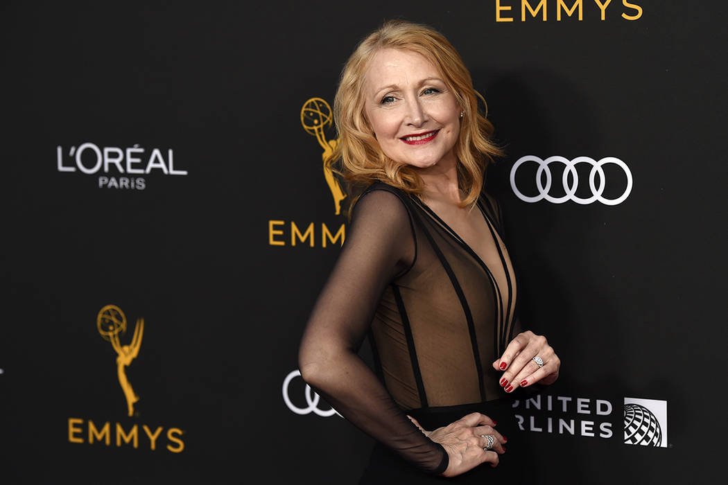 Actress Patricia Clarkson poses at the Performers Nominee Reception for Sunday's 71st Primetime ...