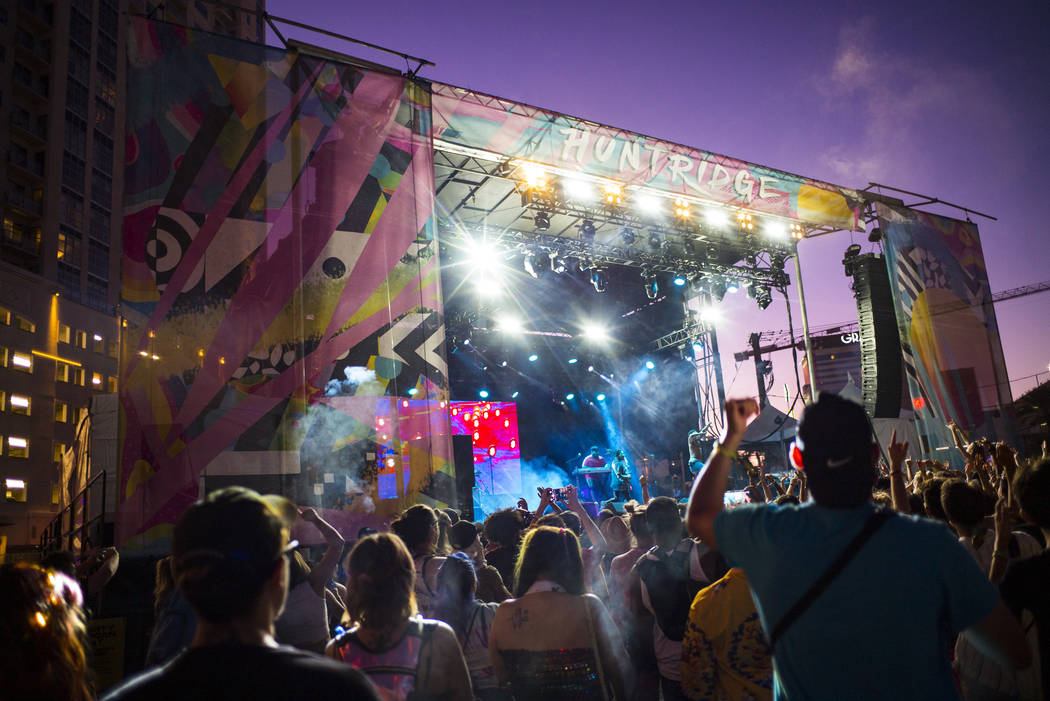 Taylor Bennett performs at the Huntridge stage during day 2 of the Life is Beautiful festival i ...