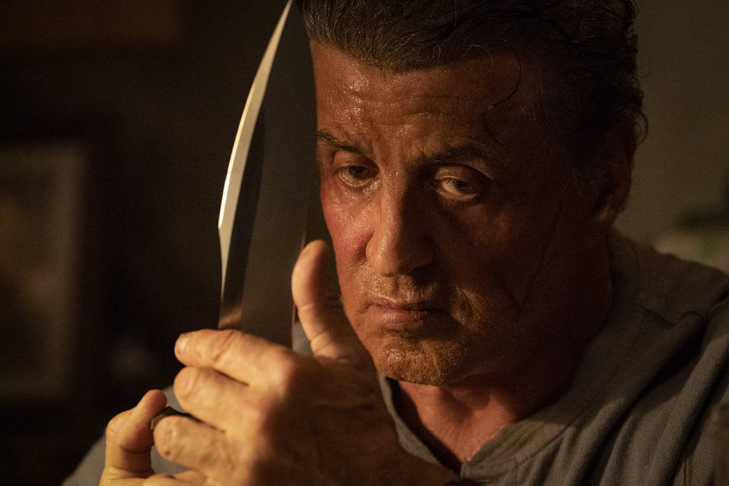 "This image released by Lionsgate shows Sylvester Stallone as John Rambo in a scene from ""R ..."