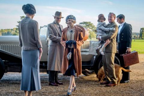 This image released by Focus Features shows Elizabeth McGovern, from left, Harry Hadden-Paton, ...