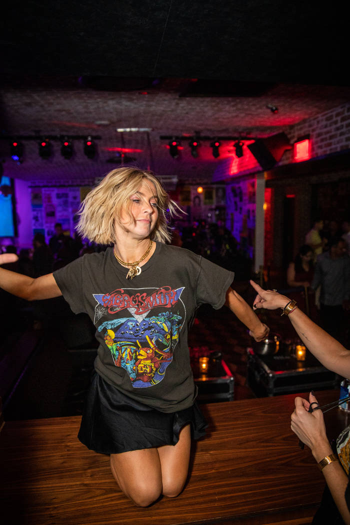 Julianne Hough is shown partying at On The Record on Saturday, Sept. 21, 2019, (Tony Tran)