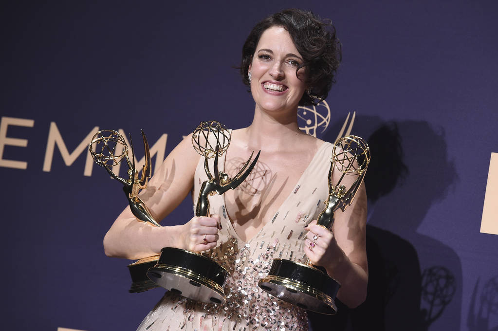 Phoebe Waller-Bridge, winner of the awards for outstanding lead actress in a comedy series, out ...