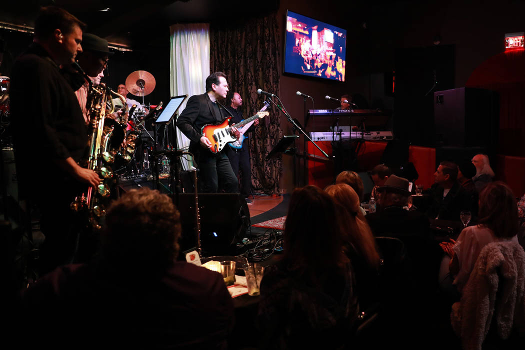 Santa Fe & The Fat City Horns perform at the Copa Room in Las Vegas on Monday, March 26, 20 ...