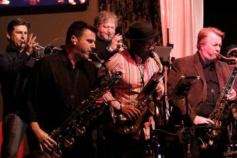 Santa Fe & The Fat City Horns perform at the Copa Room in Las Vegas on Monday, March 26, 2018. ...