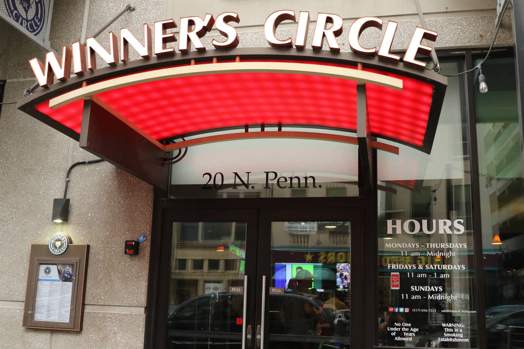 Winner's Circle sportsbook at 20 N. Pennsylvania Ave. is open for business in Indianapolis, Ind ...
