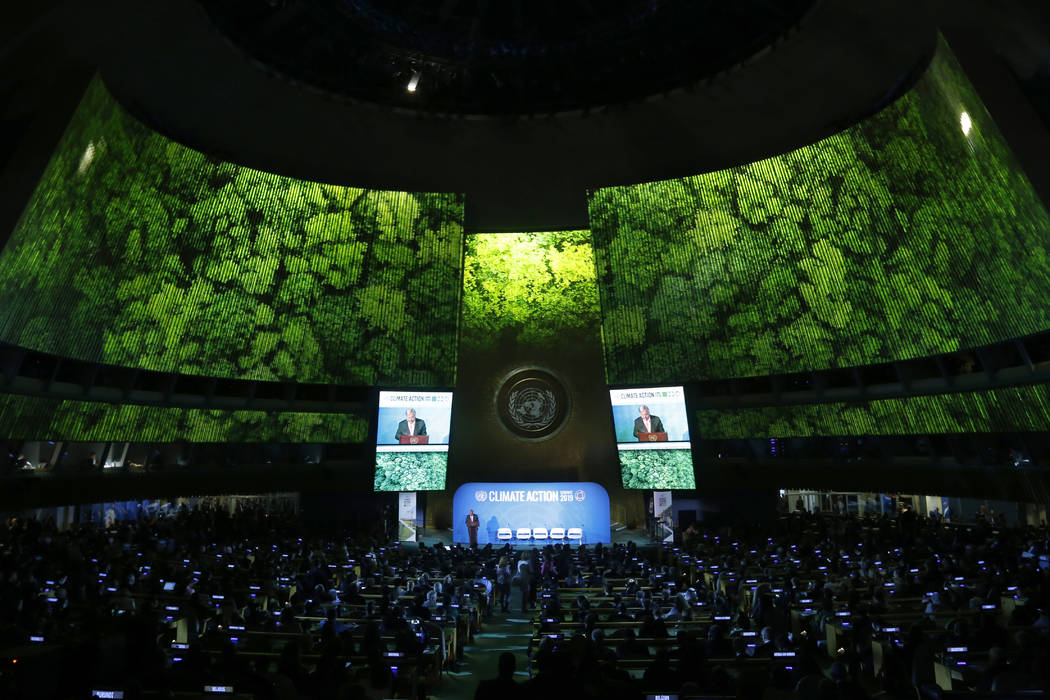 Secretary-General Antonio Guterres addresses the Climate Summit in the United Nations General A ...