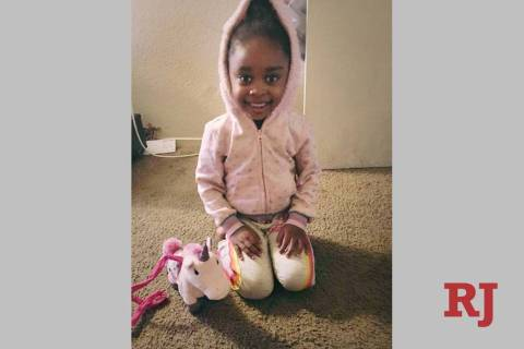 An undated photo of Janiyah Russell, 5, who died on Sept. 12, 2019, in Las Vegas. Her father's ...