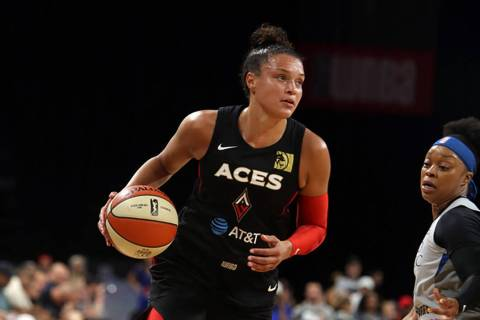 Las Vegas Aces shooting guard Kayla McBride (Michael Blackshire/Las Vegas Review-Journal)