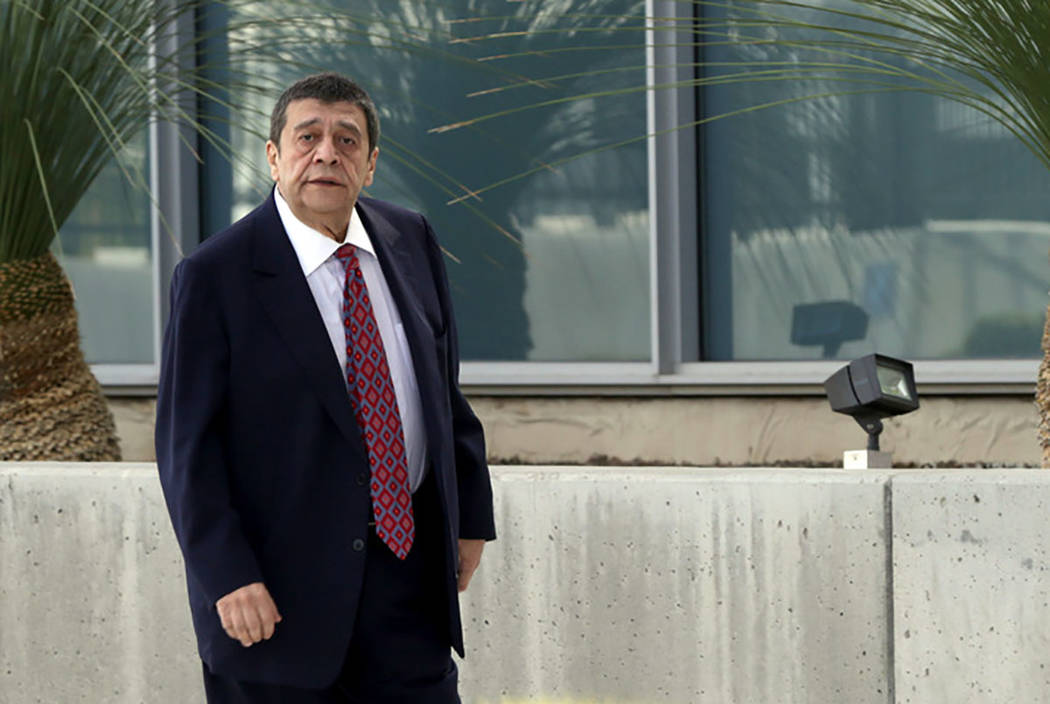 Las Vegas businessman Ramon DeSage enters the Lloyd George Federal Courthouse on Friday, Novemb ...
