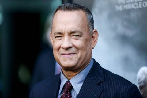"In a Sept. 8, 2016, file photo, Tom Hanks arrives at the premiere of ""Sully"" in Los Angeles. Ha ..."