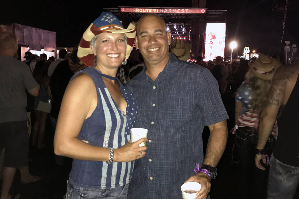 Shannon and Troy Zeeman on Oct. 1, 2017, the final night of the Route 91 Harvest music festival ...