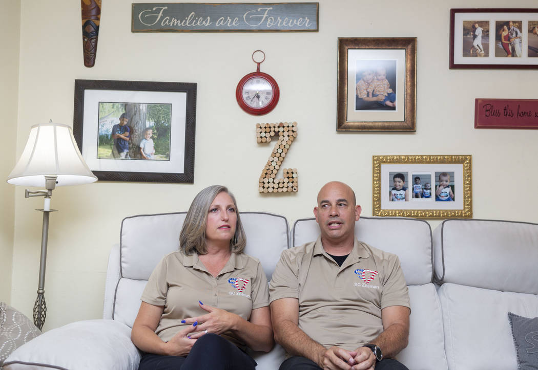 Shannon and Troy Zeeman in their Garden Grove, California, home on Monday, Sept. 23, 2019. Troy ...