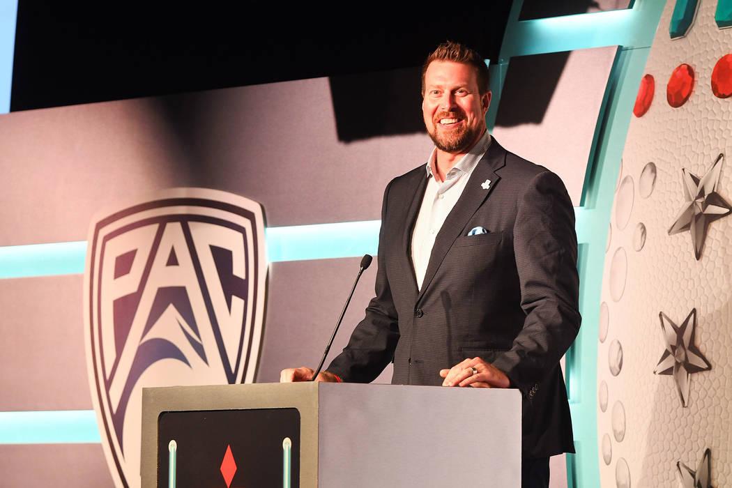 Former NFL player Ryan Leaf speaks at Vinyl at the Hard Rock Hotel in Las Vegas on Thursday, Se ...