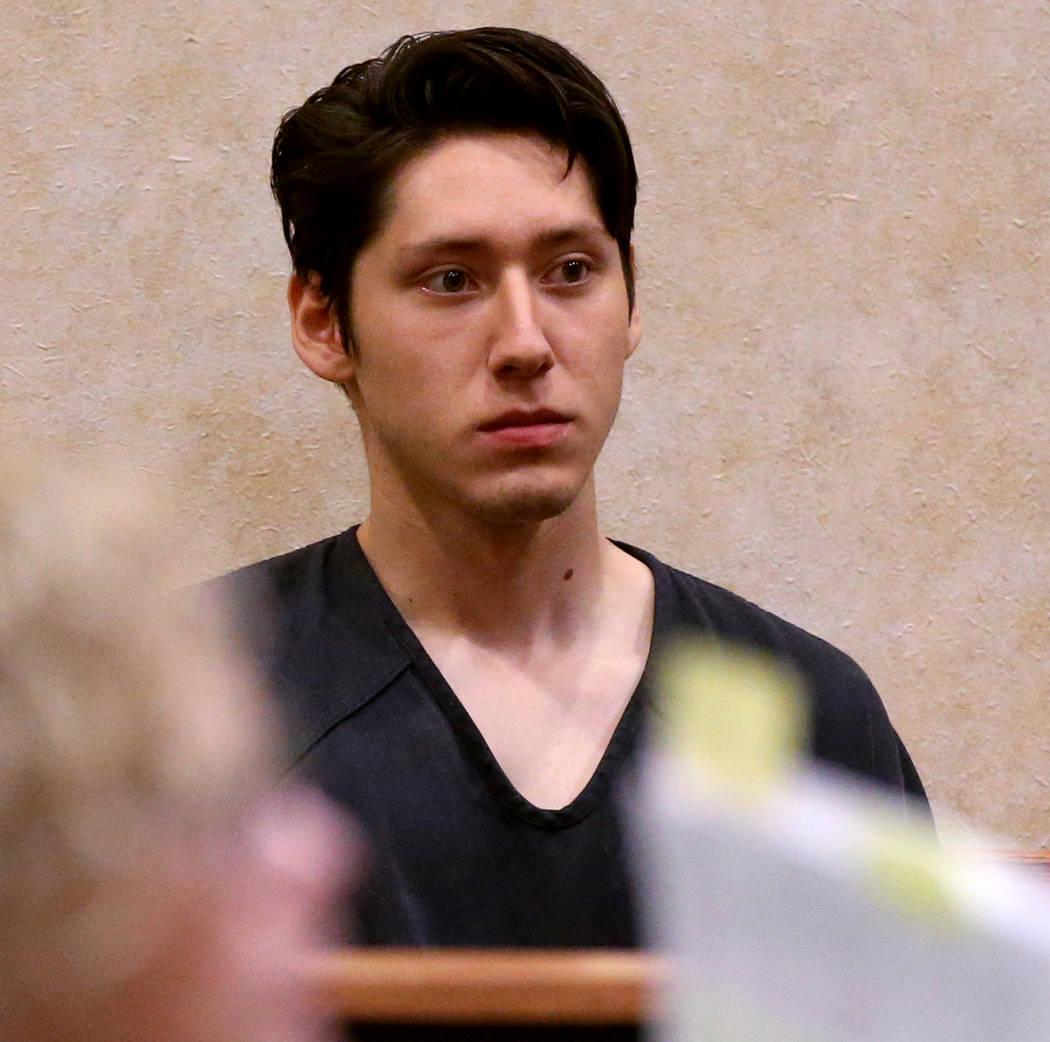 Giovanni Ruiz, 21, waits in North Las Vegas Justice Court, Tuesday, Sept. 24, 2019. Ruiz is acc ...
