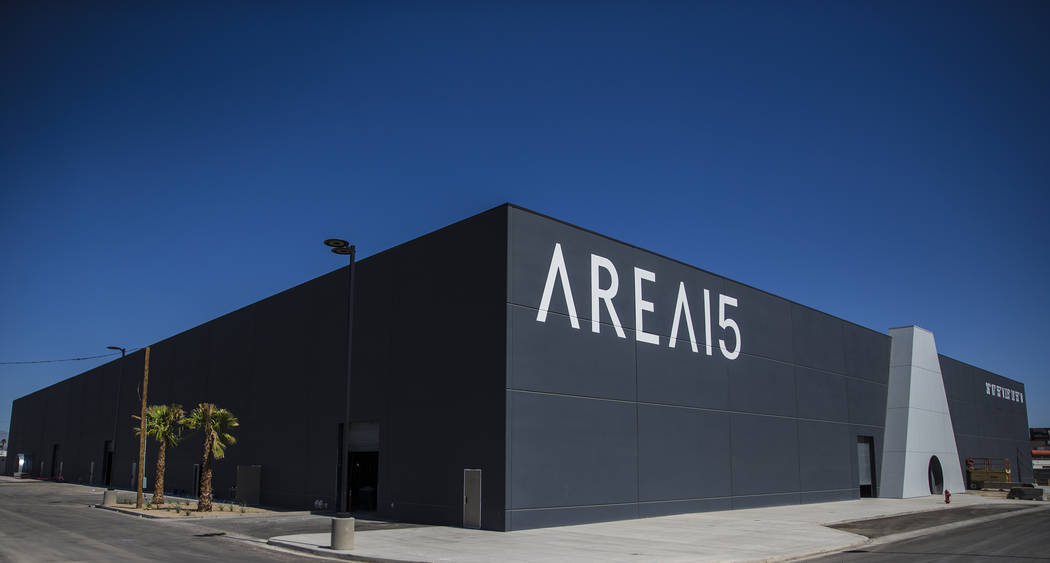 Area15 retail and entertainment complex on Tuesday, Sept. 24, 2019, in Las Vegas. (Benjamin Hag ...