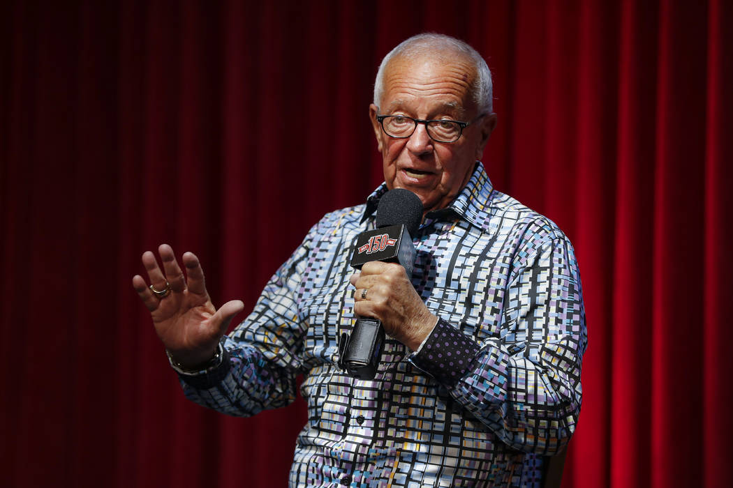 Cincinnati Reds Hall of Fame announcer Marty Brennaman speaks during a news conference to discu ...