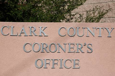 Clark County Coronor's office. (Review-Journal file photo)