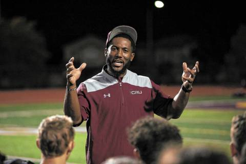 Faith Lutheran football coach Vernon Fox III. Richard Brian Las Vegas Review-Journal @vegasphot ...