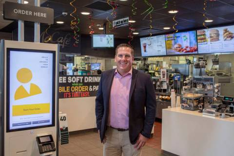 Owner Brent Bohn at his one of 43 McDonald's, on the corner of Sahara Avenue and Rainbow Boulev ...