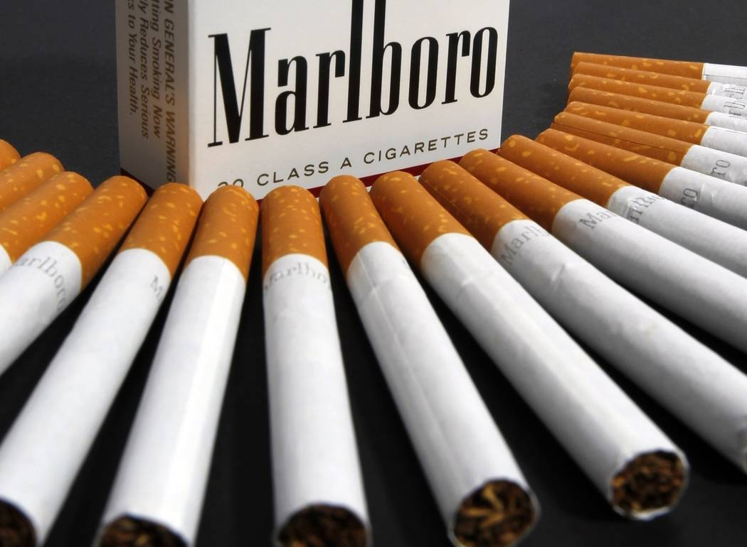 FILE - In this July 17, 2012 file photo, Marlboro cigarettes are displayed in Montpelier, Vt. P ...