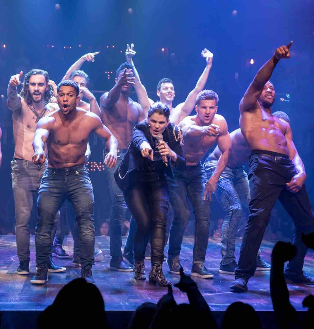 """Magic Mike Live!"" is a male burlesque show is at the Hard Rock Hotel. It will move to the Saha ..."