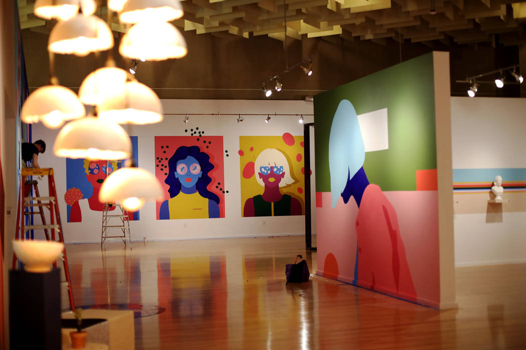 "Amanda Phingbodhipakkiya's show ""Connective Tissue"" at the Marjorie Barrick Museum at ..."