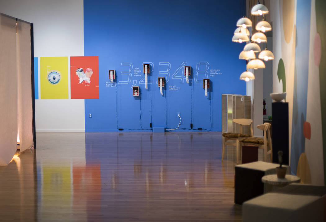 "Amanda Phingbodhipakkiya's exhibition ""Connective Tissue"" at the Marjorie Barrick Mus ..."