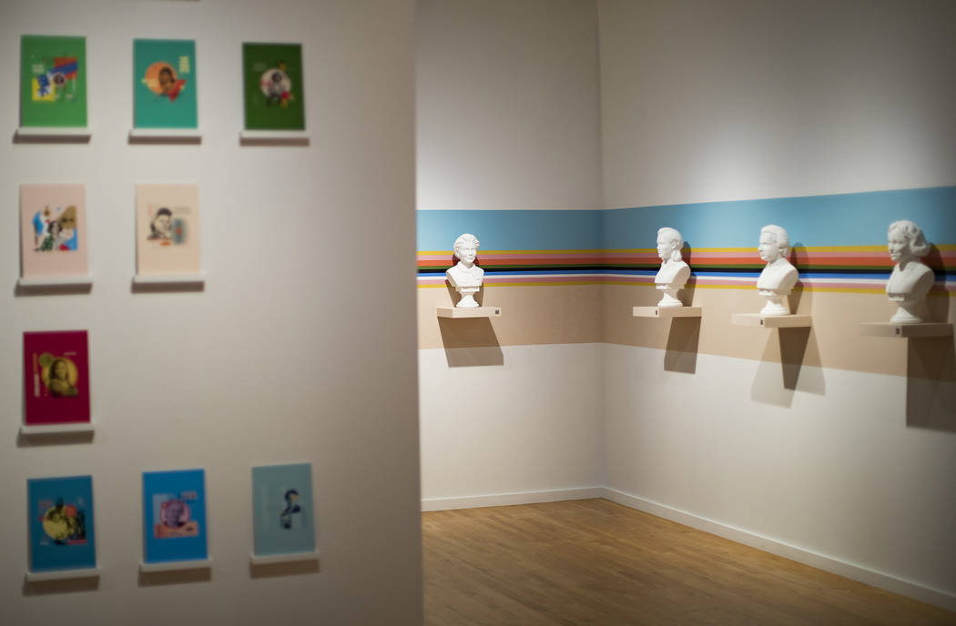 """An installation called """"In The Company of Great Scientists"""" showing busts of women sc ..."""