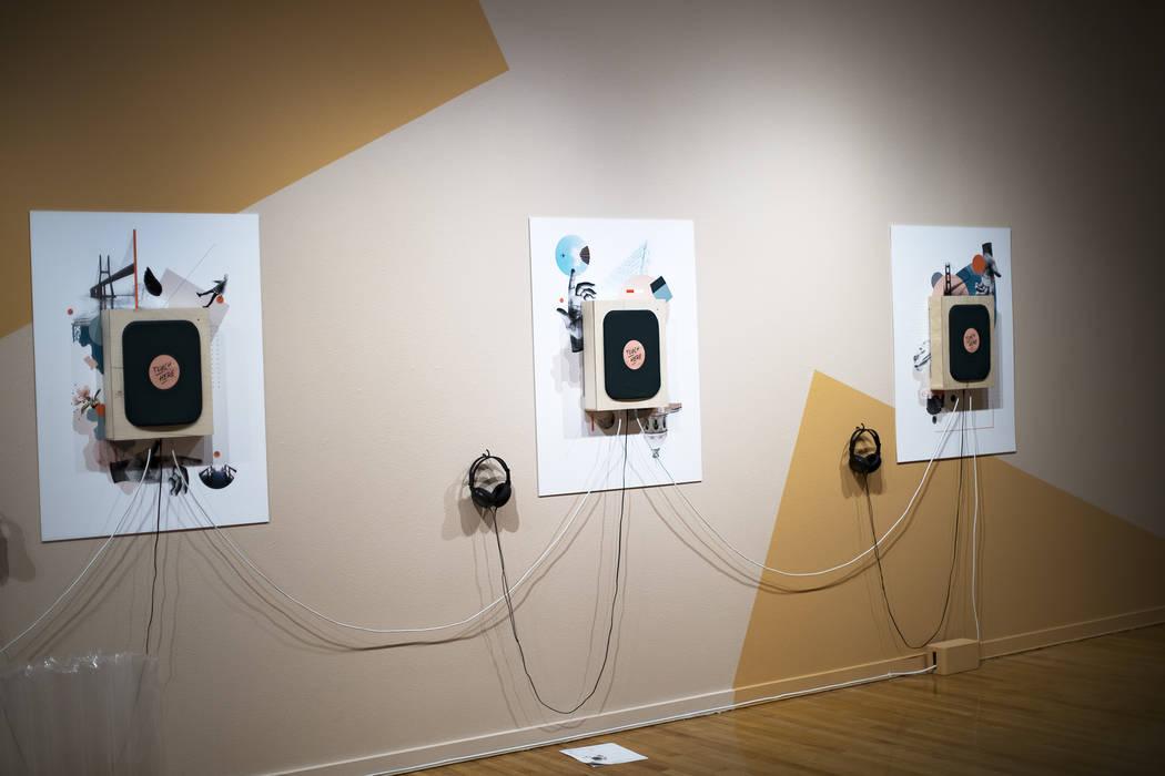 "An interactive installation called ""Binary Outcomes"" at artist Amanda Phingbodhipakki ..."