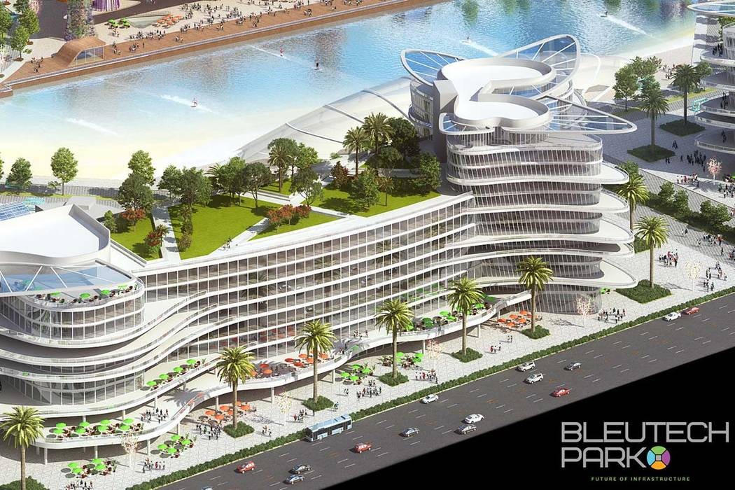 "Bleutech Park Las Vegas, a rendering of which is seen here, is a proposed ""digital infrastructu ..."
