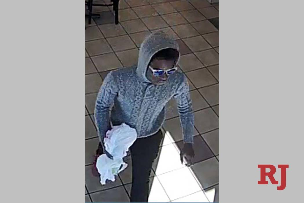 A man sought in a robbery in the west Las Vegas Valley on Sept. 18. (Las Vegas Metropolitan Pol ...