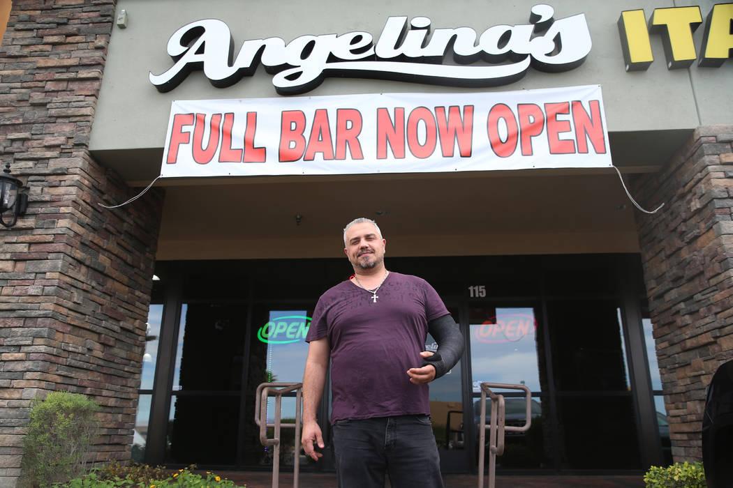 Joe Djavairian, owner of Angelina's Pizzeria in Las Vegas, Thursday, Sept. 26, 2019. (Erik Verd ...