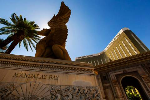 Mandalay Bay nearly two years after a mass shooting occurred on the Las Vegas Strip in 2017. (L ...